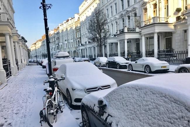 ולסיום תמונה נדירה של לונדון בשלג – אירוע נדיר שקורה רק פעם בכמה שנים