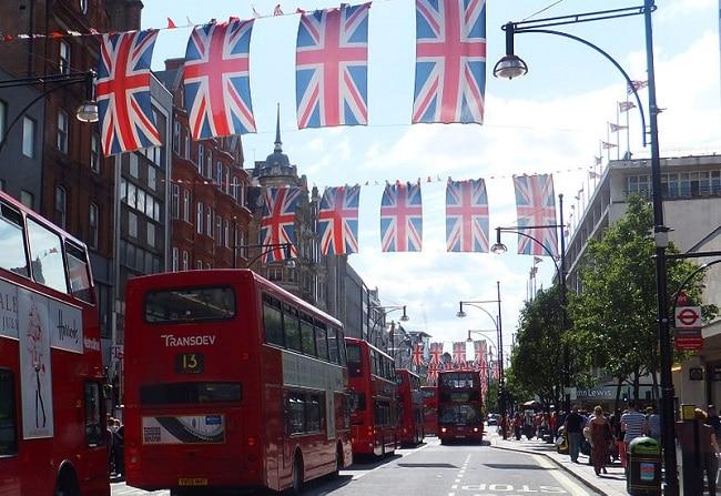 רחוב אוקספורד בקיץ 2012