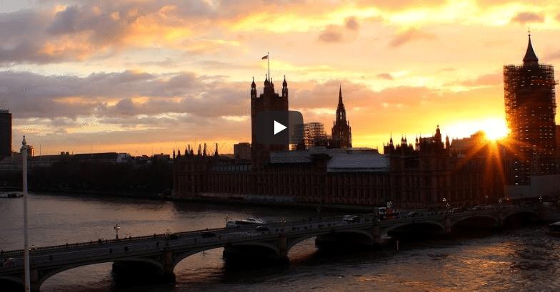 תמונה ממצלמה בשידור חי מלונדון