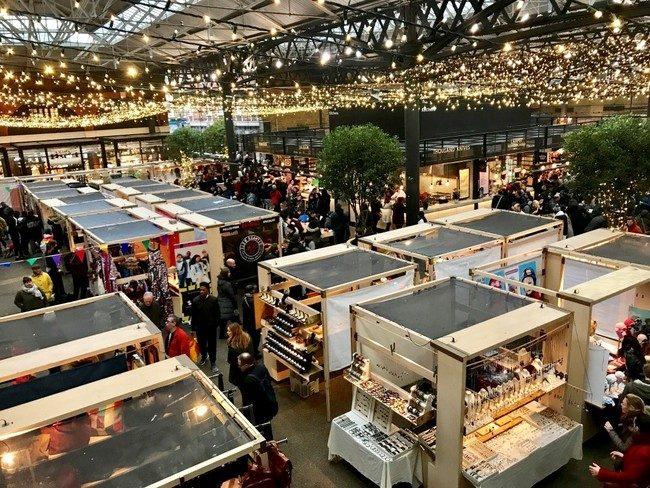 מהשווקים הנעימים והשווים בלונדון. שוק ספיטלפילדס הישן