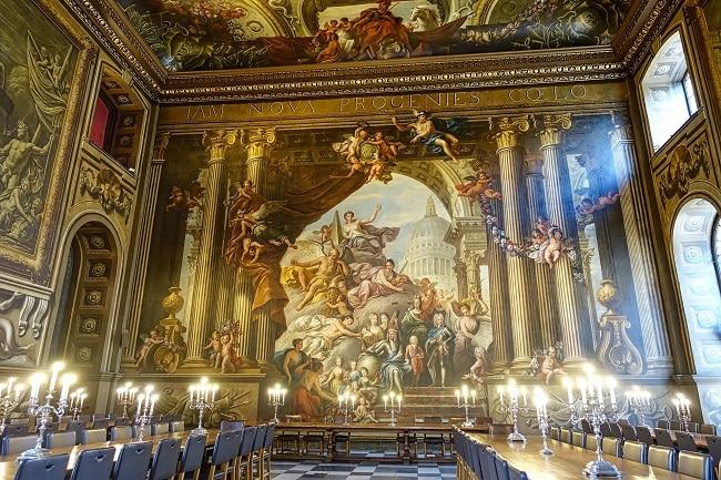 ציור התקרה הגדול והמרשים ביותר בבריטניה – Painted Hall