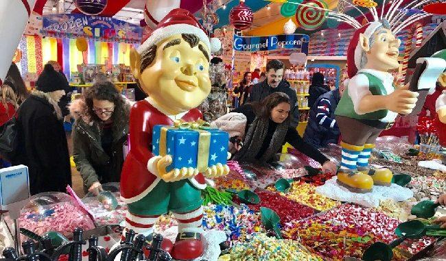 חנות ממתקים מושקעת ב-Winter Wonderland