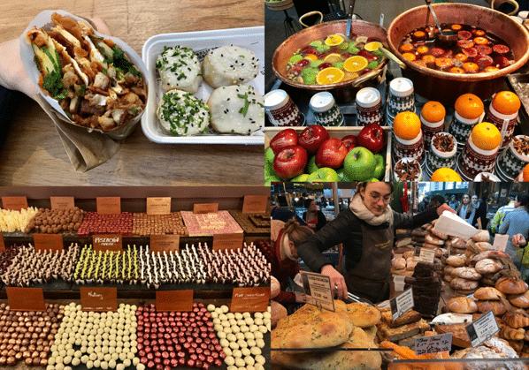 אוכל צבעוני ומגוון בשווקי לונדון