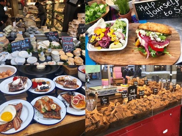 4 דוכני אוכל בשווקים השונים בלונדון