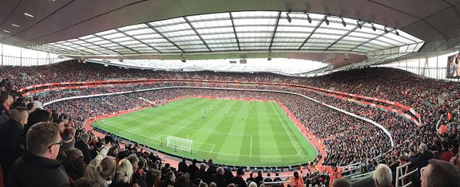 האצטדיונים בלונדון הם מהגדולים והמרשימים בעולם. אצטדיון האמירויות (ארסנל)