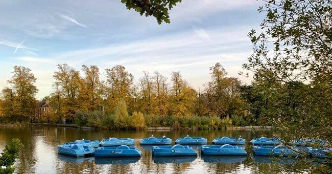 ויש גם אגם עם סירות להשכרה