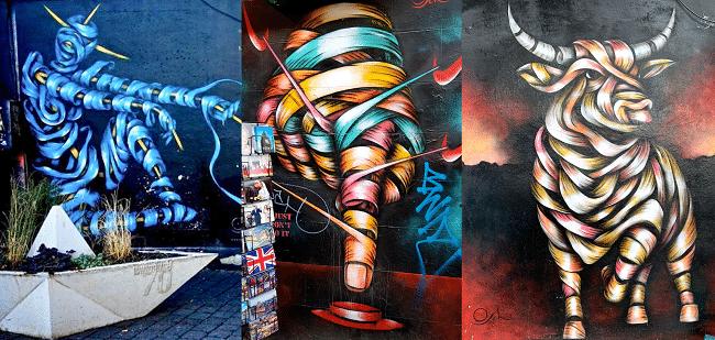 ועוד כמה יצירות של אמן הרחוב אוטו שאדי (Otto Schade)