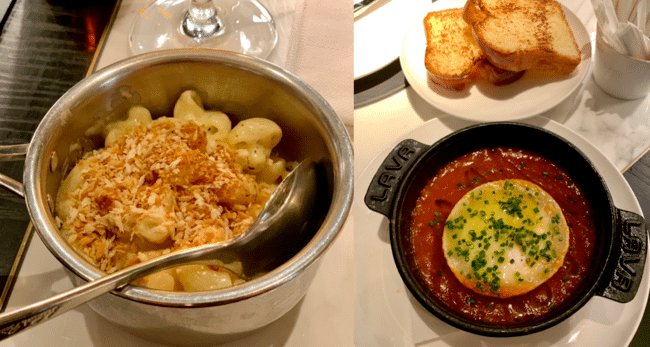 גבינת עיזים אפויה ברוטב עגבניות ובריוש לצד מק אנד צ׳יז וכמהין