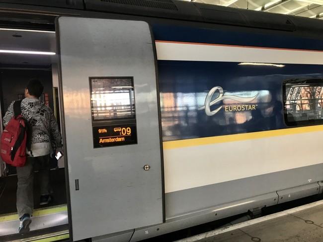 אפרופו אמסטרדם, מתחנת סט. פנקרס תוכלו לקחת רכבות ישירות לאמסטרדם, פריז ובריסל. הנה זו שלקחתי לפני שנה וחצי לאמסטרדם (שלוש וחצי שעות).