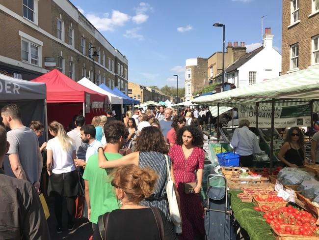 מהשווקים הכי שווים ואהובים בלונדון. ברודוויי מרקט