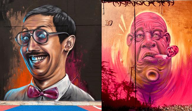 אוהב לגרום לאנשים לחייך. ציורי קיר של ווסקרסקי בשורדיץ׳