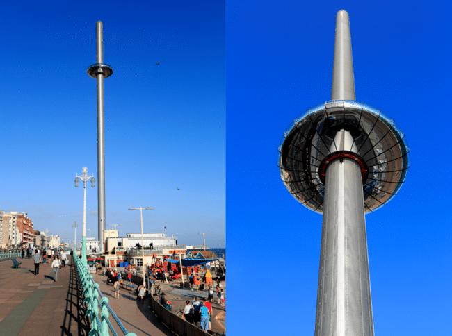 להשקיף מלמעלה על החוף הבריטי הדרומי. מגדל התצפית British Airways 360