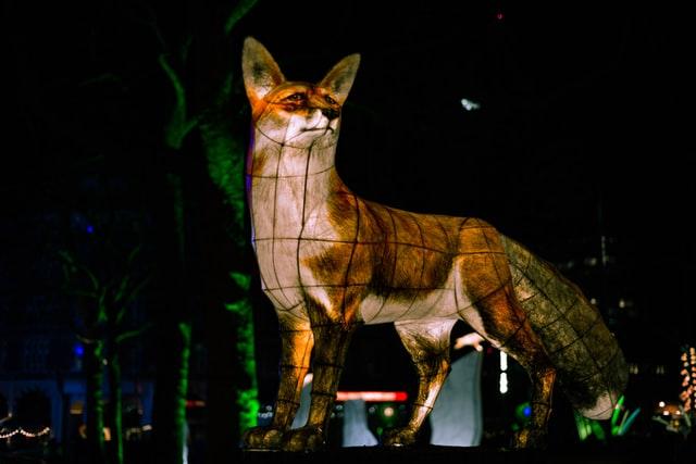 מיצג אומנותי בכיכר לסטר - What does the fox say