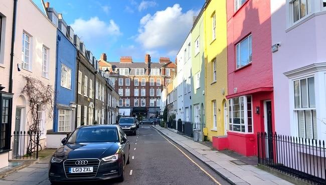 רחוב גודפריי בשכונת צ׳לסי