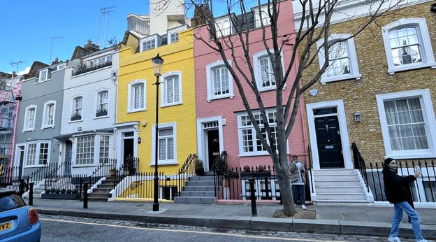 רחוב Bywater. מהצבעוניים ביותר בצ׳לסי