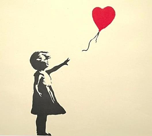 ילדה עם בלון אדום - יצירה של בנקסי