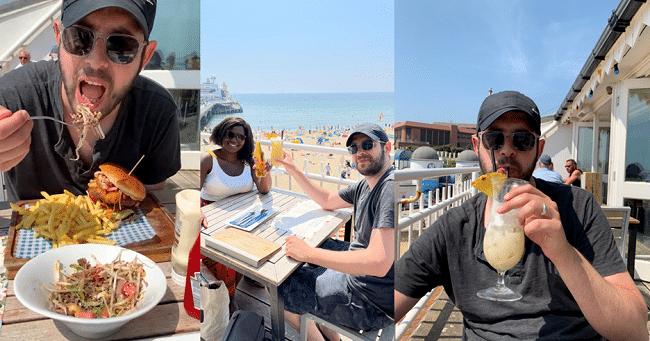 בראנץ׳ מוצלח למדי במסעדה Aruba שעל החוף בבורנמות׳