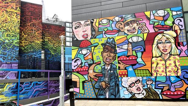 ציורי גרפיטי בשכונת שורדיץ
